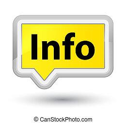 Info prime yellow banner button