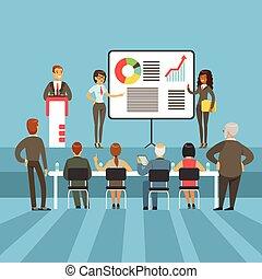 info, principal, gráfico, negócio, realização, acionistas, resultados, materiais, gráficos, apresentação, regular