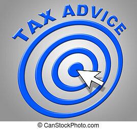 info, rat, steuer, zeigt, empfehlungen, unterstuetzung