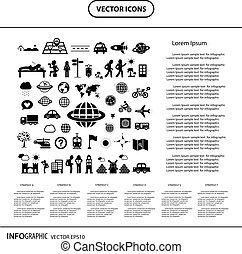 info, reiziger, grafisch, ontdekkingsreiziger, pictogram