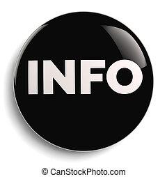 Info Round Black Symbol Icon
