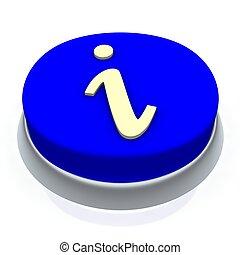 Info round button 3d