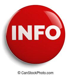 Info Round Red Symbol Icon