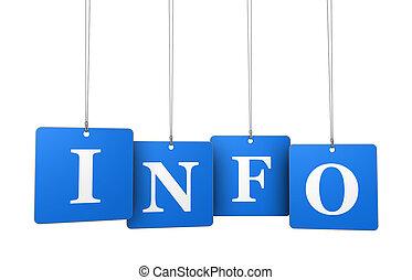 info, sinal, etiquetas