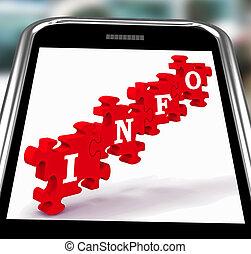 info, smartphone, kennis, optredens