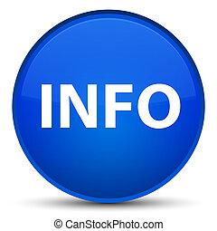 Info special blue round button