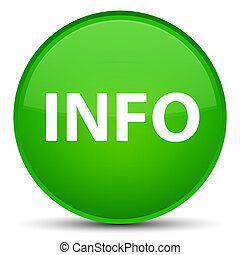 Info special green round button