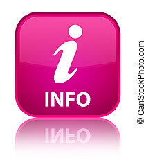 Info special pink square button