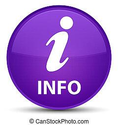 Info special purple round button