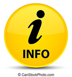 Info special yellow round button