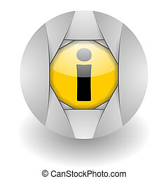 info steel glosssy icon