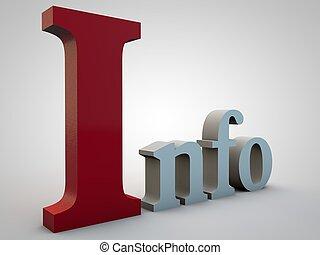 info, steht, für, informationen, aus, graue , steigung,...
