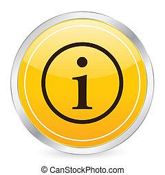 info symbol yellow circle icon