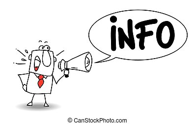 Info - This influential blogger is talking in a megaphone. ...