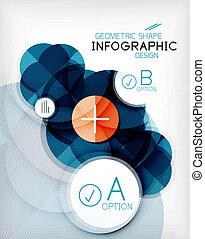 info, vorm, glanzend, achtergrond, cirkel, geometrisch