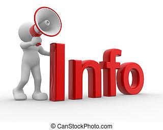 """""""info"""", vzkaz"""