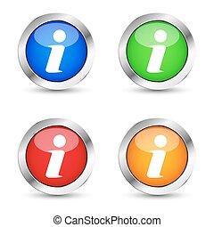 Info Web Button Set