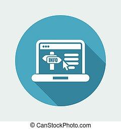 info, website, ikone