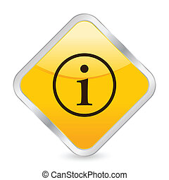 info yellow square icon