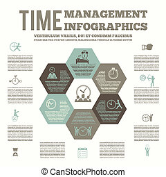 infografic, poster, management, tijd