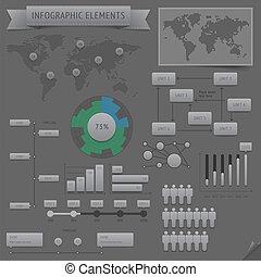infographic, éléments conception