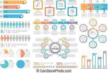 infographic, éléments