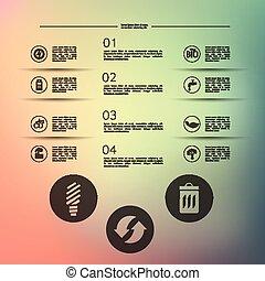 infographic, ökologie, unfocused, hintergrund