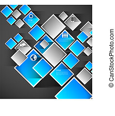 infographic, čtverhran, grafické pozadí, šablona
