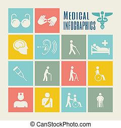 infographic, αναπηρία , template.