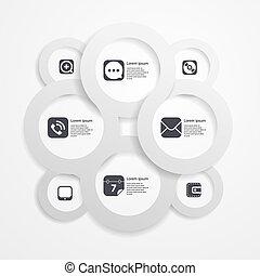 infographic, αραχνιά απεικόνιση , μέσα ενημέρωσης , χαρτί , φόρμα , κύκλοs