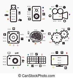 infographic, τεχνολογία