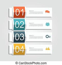 infographic, イラスト, ベクトル, デザイン, 旗, template.