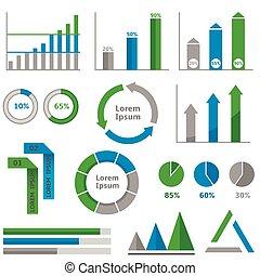 infographic, グラフ, セット