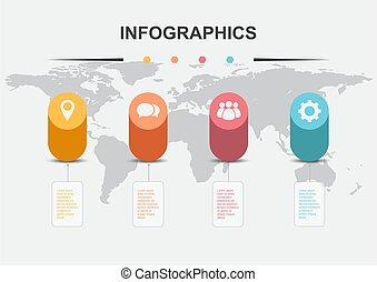 infographic, シリンダー, 要素, デザイン, テンプレート
