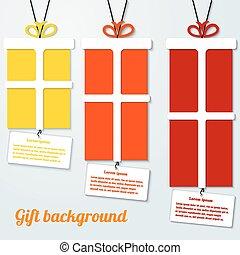 infographic, セット, square., 色, イラスト, ベクトル