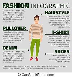 infographic, セーター, ファッション, 人