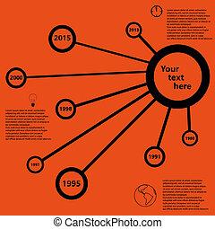 infographic, タイムライン, ベクトル