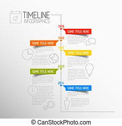 infographic, タイムライン, レポート, テンプレート
