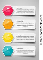 infographic, テンプレート, ∥ために∥, ビジネス, ベクトル, illustration.