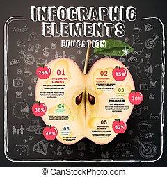 infographic, デザイン, テンプレート