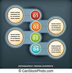 infographic, デザイン, 要素