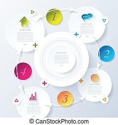 infographic, ビジネス, 抽象的, 現代, ベクトル, デザイン, あなたの