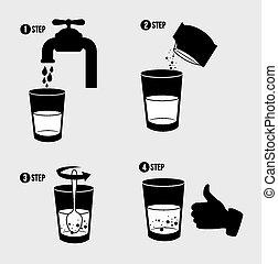 infographic, ベクトル, デザイン, illustration.