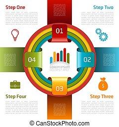 infographic, ベクトル, デザイン, template., illustration.