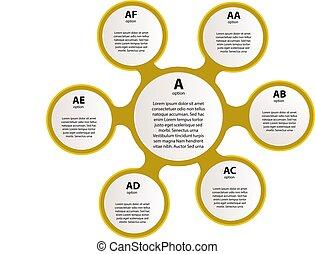 infographic, ライン, テンプレート, icons., ベクトル, イラスト, レポート