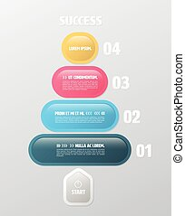 infographic, ラウンド, 長方形