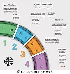 infographic, 事務, 過程