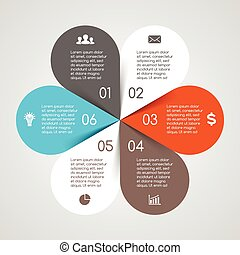 infographic, 図, 円, オプション, ビジネス