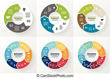 infographic, 図, 円, 矢, options.
