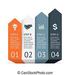 infographic., 図, 概念, visualization., processes., ビジネス, 部分, ...